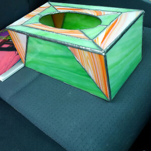Stained Glass Kleenex Box Cover