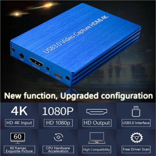 Video Capture Card HDMI 4K to USB 3.0 for Video Recorder OBS