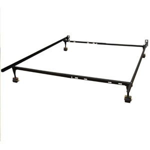 King - metal bed frame and box spring set. Excellent cond. $100