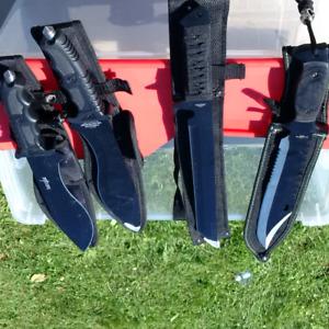 Hunting knives full tang