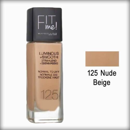 Maybelline Fit me Foundation Make-up Luminous+Smooth 125 Nude Beige Grundierung