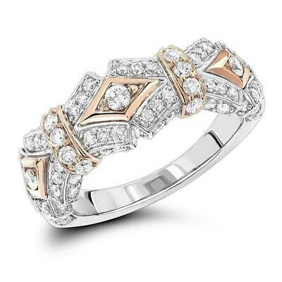 3Ct Round Cut VVS1 Diamond Elegant Vintage Engagement Ring 14ct White Gold Over