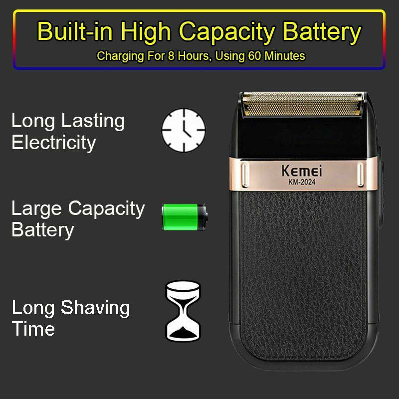 Electric Shaver Rechargeable Knife Razor Trimmer RW610