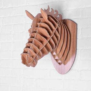 t te de cheval bois luxe rare art d co loft d coration equitation ebay. Black Bedroom Furniture Sets. Home Design Ideas