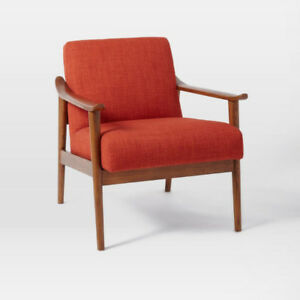 Brand New west elm Midcentury Show Wood Upholstered Chair