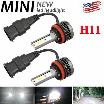 Mini H11 110W LED Headlight Conversion Kit Bulbs Car Driving Lamps DRL 6000K US