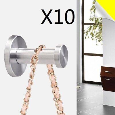 10X Kleiderhaken Edelstahl Garderobenhaken Wandhaken Mantelhaken Garderobe Haken ()