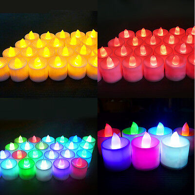 Color Flameless LED Tealight Tea Candles Wedding Light Battery Colorful Lamp - Flameless Lamps