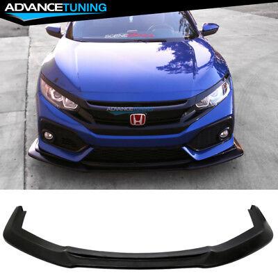 Fits 17-19 Honda Civic Sport Hatchback 5Dr GT Style Front Lip Spoiler - PU Civic Hatchback Body Kits