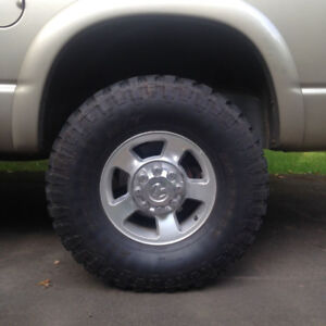 """37x12.5 ironman all country m/t on 17"""" dodge wheels"""