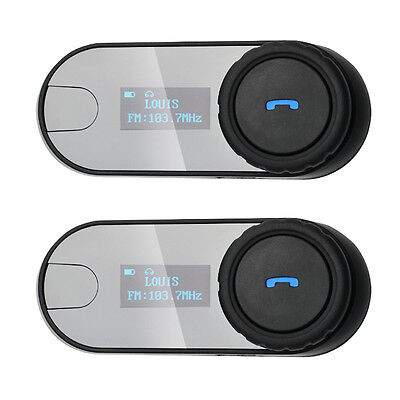 2x Helmet Communication Systems, FDC TCOM-SC w/ LCD Motorcycle Bluetooth Headset