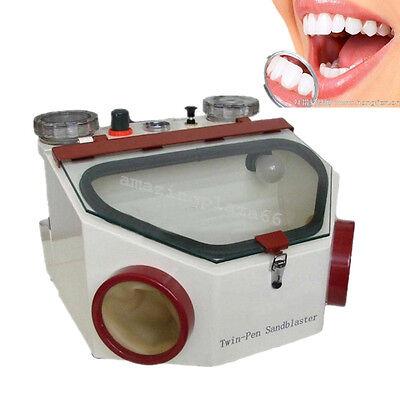 High Quality New Dental Lab Equipment Double Pen Fine Sandblaster Unit Dentist