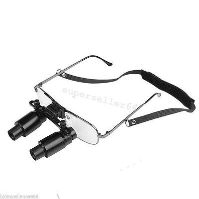 Super Dental Dentist Loupes 6.5x Medical Binocular Glasses Magnifier 300-500mm