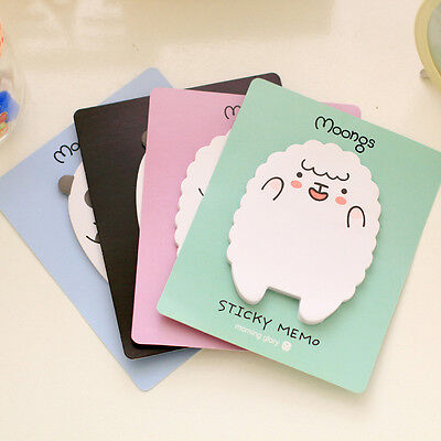 2x Sheep Panda Sticky Notes Sticker Bookmarker Memo Pad Home Office Class