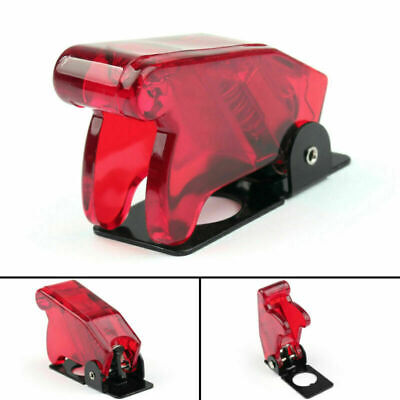 1x Toggle Switch Boot Plastic Safety Flip Cover Cap 12mm Clear Red Cn