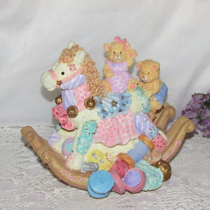 MUSICAL FIGURINE LET ME BE YOUR TEDDY BEAR EASTER GIFT