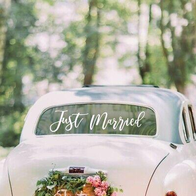 Hochzeitsauto Aufkleber Just Married Schriftzug | Sticker Hochzeitsdekoration Au