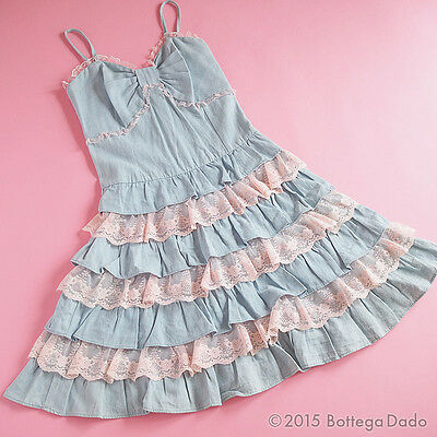 La Pafait Tiered Layer   Bouffant Ribbon Tunic Cami Dress Hime Gyaru Lolita
