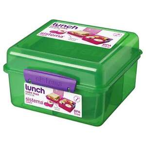 Sistema-Verde-2l-Almuerzo-Cubo-Multi-compartimento-Emparedados-Yogur-Colegio