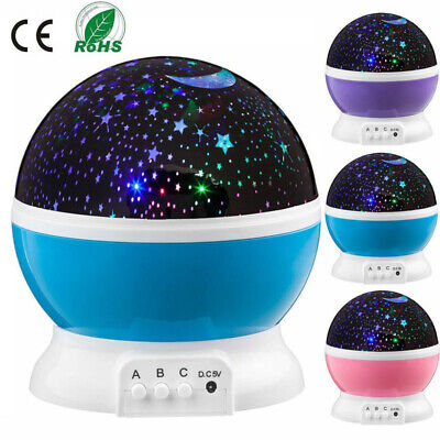 Moon Night Light (Constellation Night Light Baby Kids Lamp Moon Star Sky Projector Rotating)