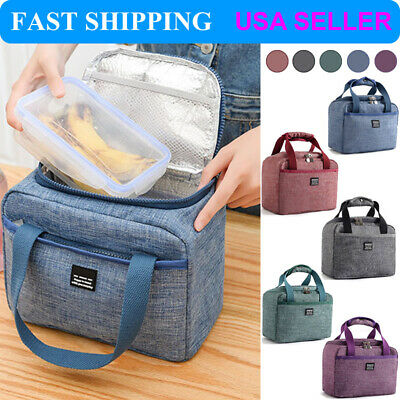 Cool Bag Lunch Box Summer Winter Food Insulated Children Kids Adult Boys -