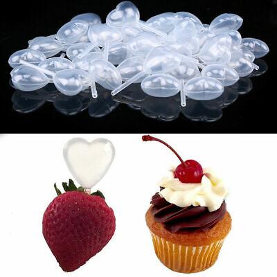 Us 50x Heart Shaped Squeeze Transfer Oils Pipette Liquid Dropper Dessert Bakery