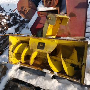 JD snowblower attachment