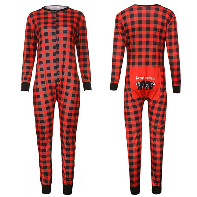 Jumpsuit Weihnachten.Details About Family Matching Christmas Pajamas Jumpsuit Homewear Sleepwear Nightwear Warm Us