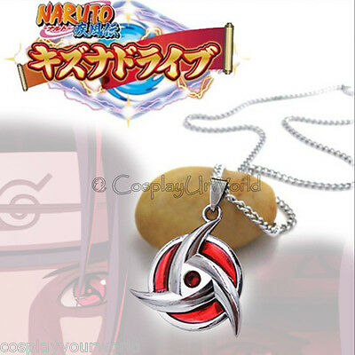 Anime Naruto Manga Itachi Uchiha Akatsuki Crazy Mangekyou Sharingan Eye Necklace
