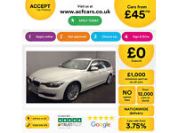 White BMW 320 2.0TD BluePerformance Touring Auto Luxury FROM £45 PER WEEK!