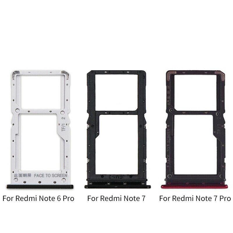SIM Card Tray Holder Slot Adapter Replacement Part For Xiaomi Redmi Note 6 7  Pro   eBay