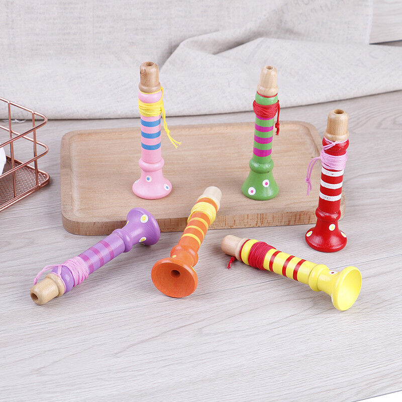 Baby Wooden Flute Whistle Toys Educational Toys Kids Musical Instrument XR - $8.88