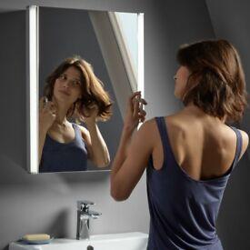 New R2 Avant Bathroom Wall 400mm Mirror Cabinet LED lighting White RRP £294
