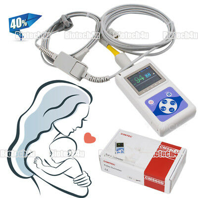 Infant Neonate Child Finger Pulse Oximeter Sleep Study Spo2 Heart Rate Monitor