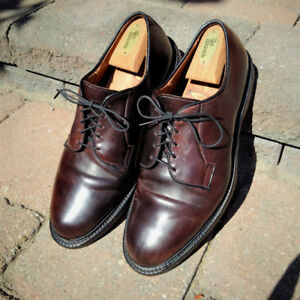 Allen Edmonds shell cordovan,  Leeds size 9.5 3E burgundy brown