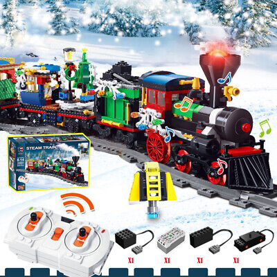 826PCS Christmas Village City Train tree minifigures Building Blocks lego Toys