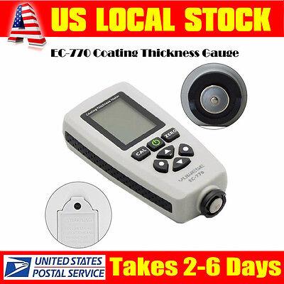 Ec-770 Handheld Thickness Meter Paint Coating Tester Probe Gauge Tool 1300um Lcd