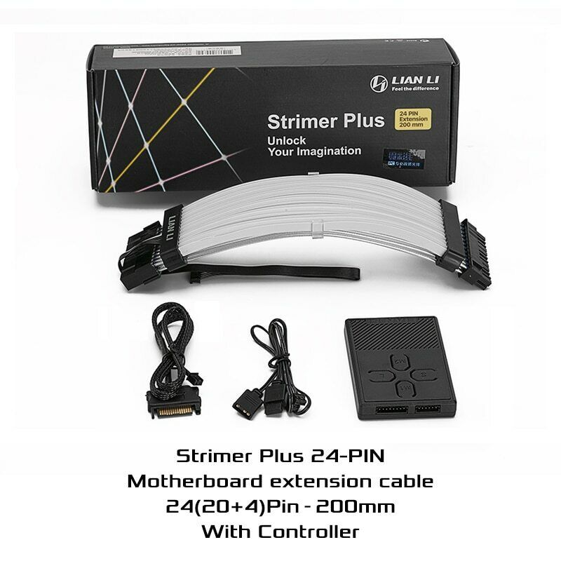 NEW LIAN LI STRIMER PLUS 24 Pins Addressable RGB Power extension cable-Strimer