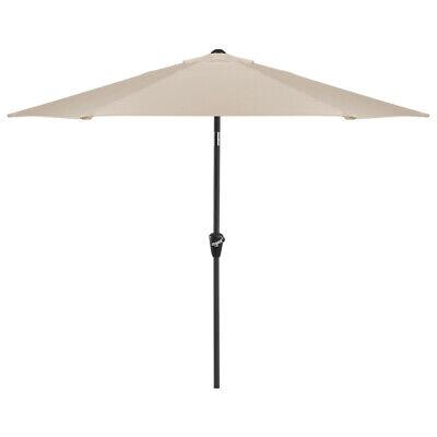 Modern Aluminium 2.4m Crank & Tilt Round Parasol and Base in 6 Different Colours Aluminum Round Umbrella Base