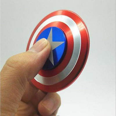 High Quality Metal Captain America Shield Fidget Spinner Focus Toy ADHD EDC USA
