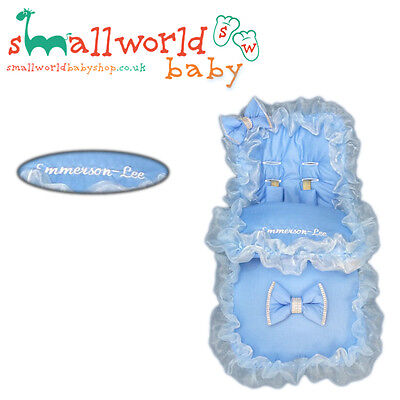 Personalised Blue Bling Footmuff Cosytoes (NEXT DAY DISPATCH)