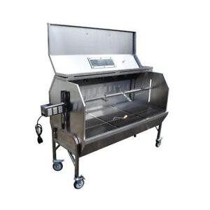 "59"" Charcoal Spit Roaster Rotisserie 301 Stainless BBQ Pig Lamb Turkey Chicken - BRAND NEW - FREE SHIPPING"