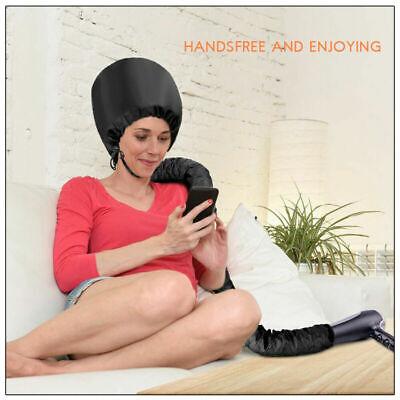 Portable Soft Hair Drying Cap Bonnet Hood Hat Blow Dryer Attachment Tool Home