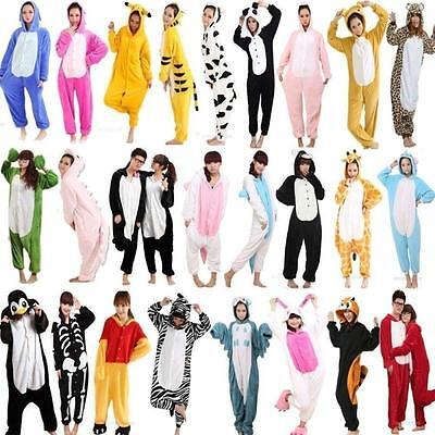 Adult Pajamas Pokemon Picachu Anime Hot Unisex Panda Dragon Tiger Cow Kitty NEW