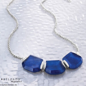 Silpada .925 Sterling Silver and Lapis Necklace (Nickel Free)
