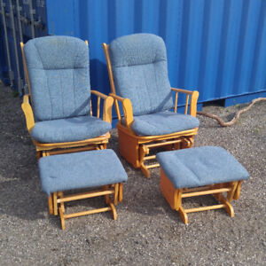 2 Rockers with Footstools