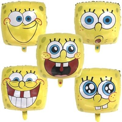 Sponge Bob Birthday Party (5 Pack Of Sponge Bob Square Pants Balloons Birthday Party Decoration)