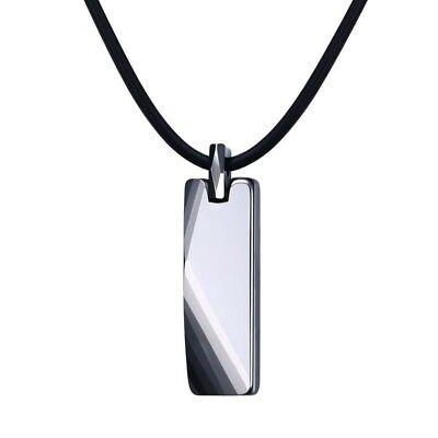 Men Geometric Necklace Pure Tungsten Carbide Good Luck Necklaces Pendants Gift Tungsten Carbide Pendant