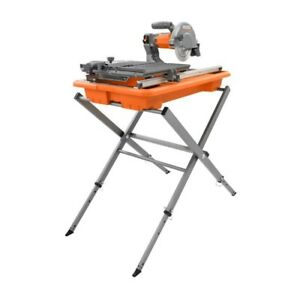 RIDGID 7 in. Tile Saw with Stand ( USED )