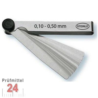 STEINLE Fühlerlehre 0,10 - 0,50 mm 21 -tlg. Abstandslehre Fühlerlehren Fühllehre